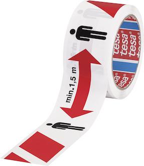 tesa Signal Abstandsklebeband   1,5m  , weiß, 50mmx50m