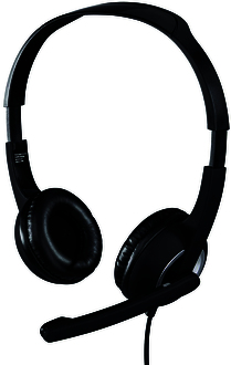 Hama PC-Headset Essential HS-P150, Kabellänge: 2m, 00053982, gepolsterte Ohrmusc