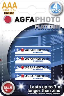 AgfaPhoto Batterie, AAA, 1,5V, LR03, Micro, Alkaline, Pck=4St, 110-802572